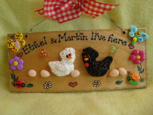 3d Personalised Chicken Run Coop Kitchen Sign  Hen House Unique Handmade Any Colour Characters Chicks
